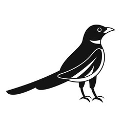 Native magpie icon simple style vector