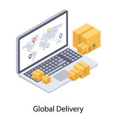 Online order tracking vector