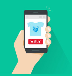 Online store on mobile phone vector