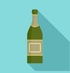 open champagne bottle icon flat style vector image