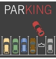 Parking lot car vector