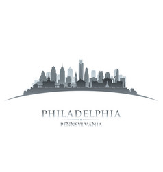 Philadelphia pennsylvania city silhouette white vector