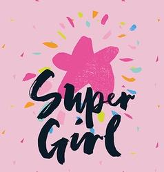 Print for T-shirt Seamless pattern Super girl vector image