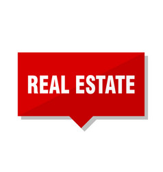 Real estate red tag vector