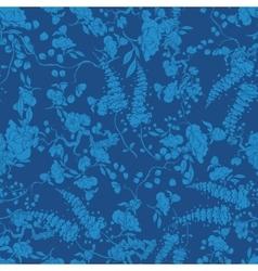 Royal Blue Kimono Floral Texture Seamless vector image
