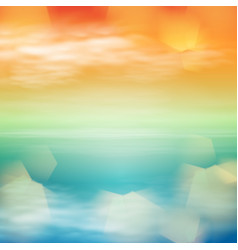 sea sunset tropical background vector image