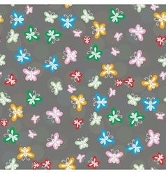 Seamless pattern of colorful butterflies vector image