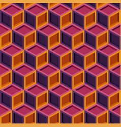 seamless repeating colorful cube pattern vector image