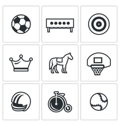 Set of Sport Icons Soccer Biathlon vector