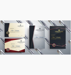 set of templates of the certificate vector image