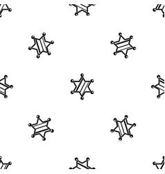 sheriff star pattern seamless black vector image