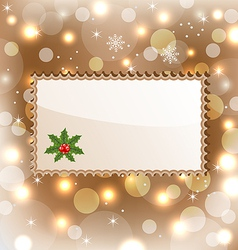Template frame with mistletoe for design christmas vector