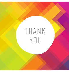 Thank you colorful vector