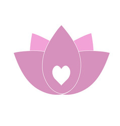 The lotus is symbolic of purity of the body vector