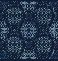 Traditional indigo blue japanese seamless vector