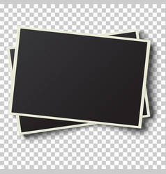 Two realistic retro photo frames vector