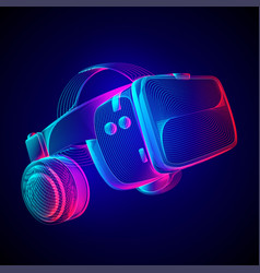 virtual reality headset abstract vr helmet with vector image