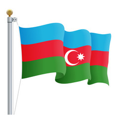 waving azerbaijan flag isolated on a white vector image