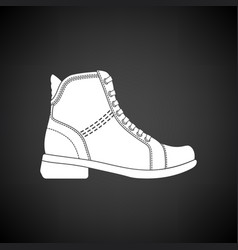 Woman boot icon vector