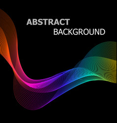 abstract background with colorful line wave on vector image vector image