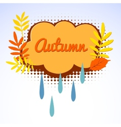 Autumn logo with autumn leaves vector image
