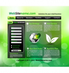 eco site vector image