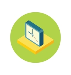 Isometric Clock Logo Icon Isolated Watch Object vector image