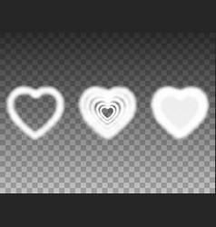 set air heavenly smoke heart vector image