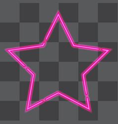 shining retro neon star vector image vector image