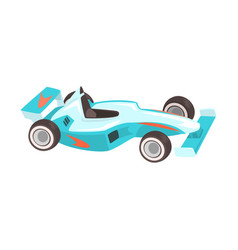 blue sportive car racing related objects part of vector image