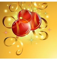 Christmas ball background EPS10 vector image