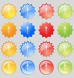 Jump rope icon sign big set of 16 colorful modern vector
