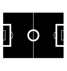 soccer field the black color icon vector image vector image