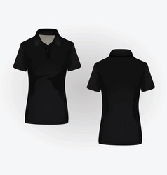 women polo shirt vector image vector image