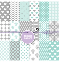 Digital paper - seamless pattern vector image vector image