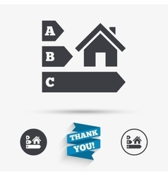 Energy efficiency icon House building symbol vector image vector image