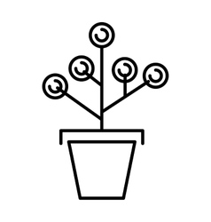 Money tree concept with room for text or copy vector image