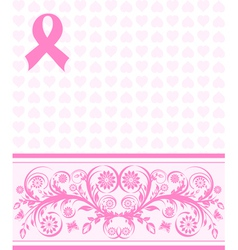 pink ribbon background vector image vector image
