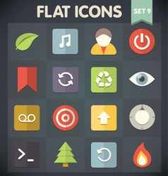 Universal Flat Icons for Applications Set 9 vector image vector image