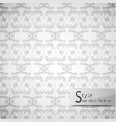 Abstract seamless pattern ribbon mesh white vector