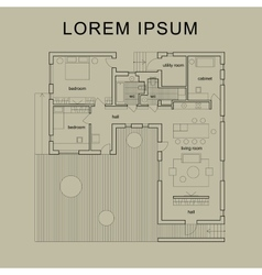 Architectural house plan vector image