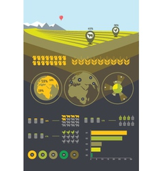 Farming and agriculture infographics vector image vector image