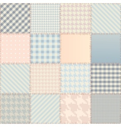 Quilting design background vector image