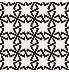 Seamless Black White Geometric Islamic Star vector image