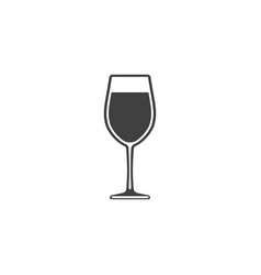 Wine in a glass icon isolated on white background vector
