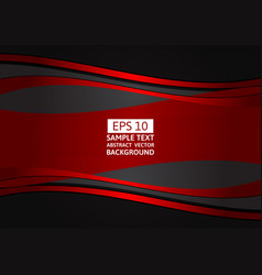 abstract background red and black wave with copy vector image