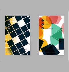 Abstract brochure composition in business style vector