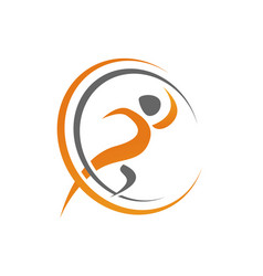 abstract healthy active people logo design vector image