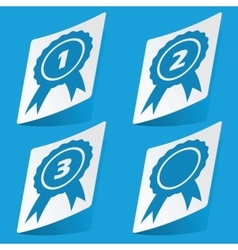 Awards sticker set vector image