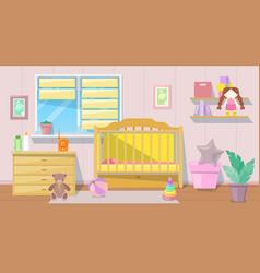 bagirl pink room interior cartoon vector image
